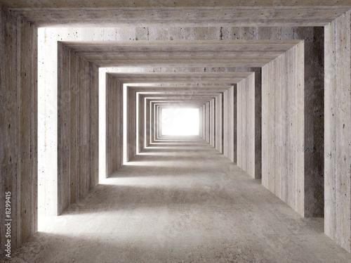 tunel-betonowy-i-swiatla-boczne