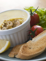 Potted Shrimp with Toast and Salad