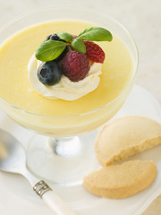 Lemon Mousse with Shortbread Biscuits