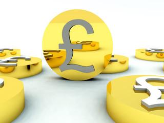 Lots Of British Pound Coins 4