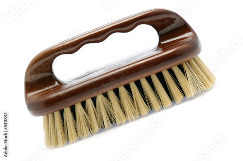 Brush for cleaning white isollated