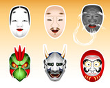 Japan Noh and Kyogen masks | Set 2 poster