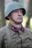 Russian soldier . WW2 reenacting poster