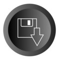 Download button with reflection poster