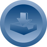 Download button (blue) poster