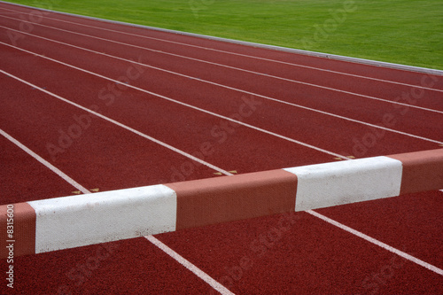 steeplechase barrier across running tracks