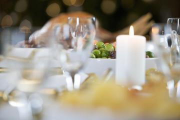 Christmas dinner on the table