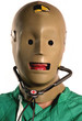 weird crash test dummy medical worker in medicine
