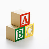 Toy ABC blocks. poster