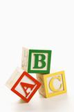 Fototapety Alphabet blocks.