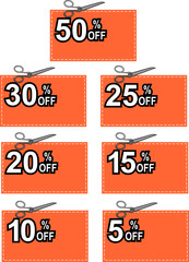 Cut-out discount coupon