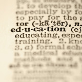 Education dictionary entry. poster