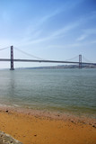 Suspension bridge in the city of Lisbon, Portugal.