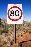 Australia speed limit sign poster