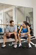 Socializing at gym