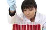Obtaining sample from test tube poster