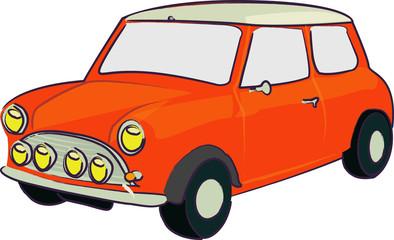 voiture rétro rouge