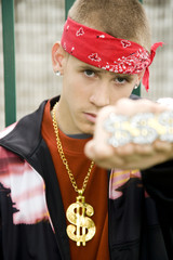 A teenage boy