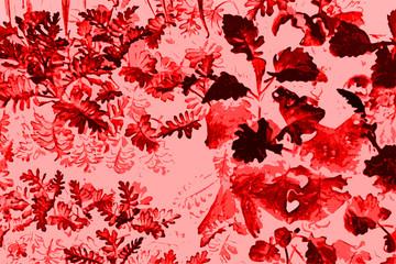 fondo flores grunge