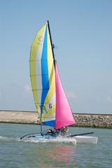 catamaran en action