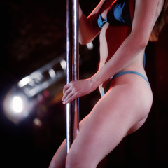 An erotic dancer at a nightclub