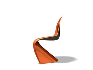 Panton Stuhl orange