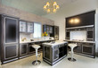 Luxurious kitchen in showroom 2
