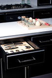 Modern kitchen with opened drawer   poster