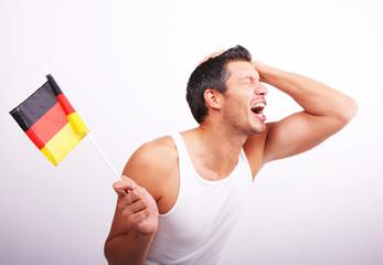 deutschland banner mann