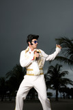 An Elvis impersonator