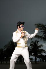 An Elvis impersonator