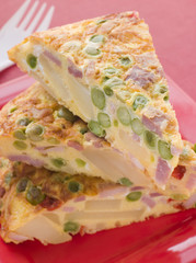 Wedges of Spanish Omelette