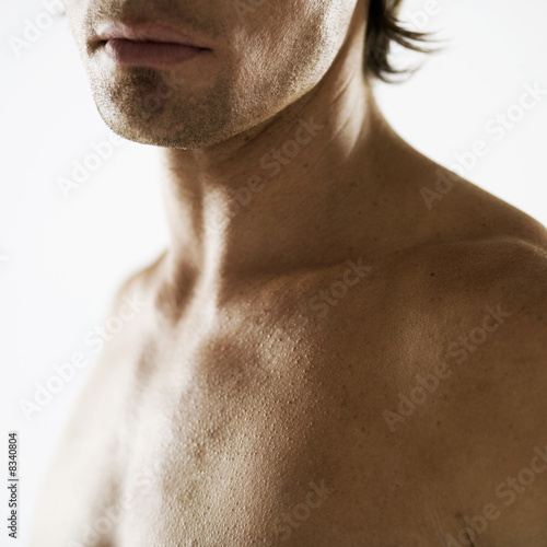 A male nude, shoulders