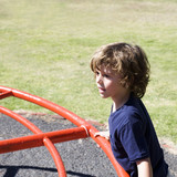 A young boy on a playground
