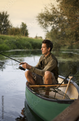Young man fishing
