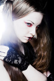 Creative gothic  make-up