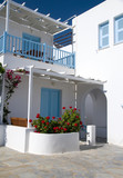 cyclades greek architecture guest house motel hotel poster