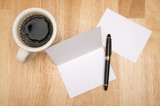 Note Card & Coffee