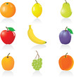 Icon set Fruits