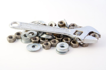 Adjustable wrench & nuts
