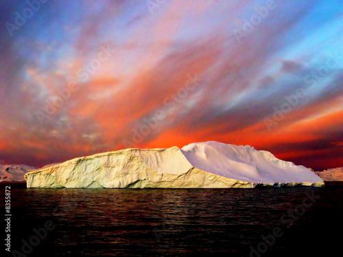 Aluminium Antarctica Sunrise, Antarctica