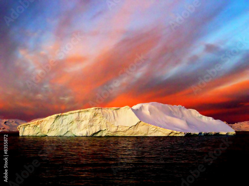 Fotobehang Antarctica Sunrise, Antarctica