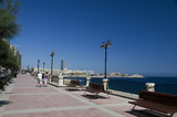 seafront boulevard promenade sliema malta poster