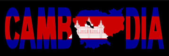 Cambodia text with map