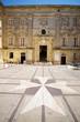interior courtyard vilhena palace tile maltese cross mdina malta