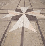 interior courtyard vilhena palace tile maltese cross mdina malta