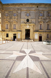 interior courtyard vilhena palace tile maltese cross mdina malta poster