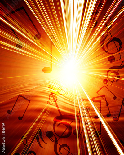 canvas print picture Musical background