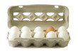 Leinwanddruck Bild Eier im Pappkarton