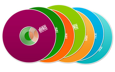 Colorful cds